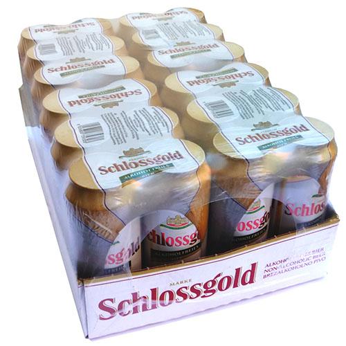 case of schlossgold beer